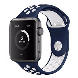 Blue & White Apple Watch Sport Band