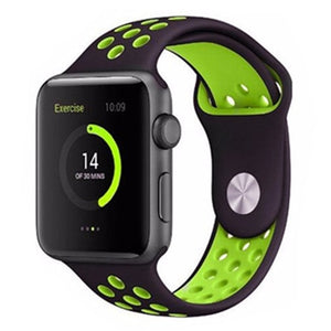 Green & Black Apple Watch Sport Band