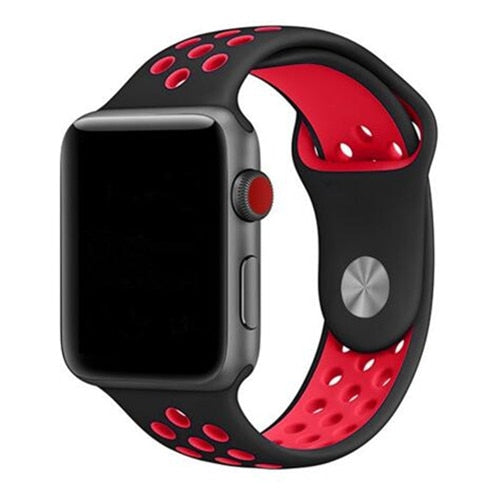 Black & Red Apple Watch Sport Band