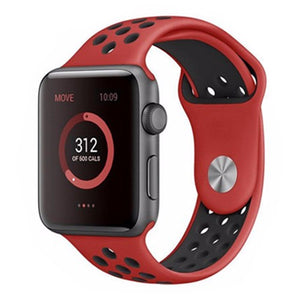 Black & Red Apple Watch Band