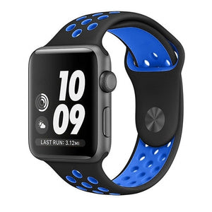 Black & Blue Apple Watch Sport Band