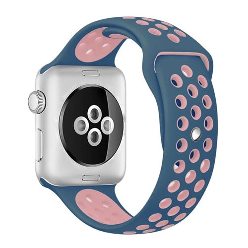 Pink & Blue Apple Watch Sport Band