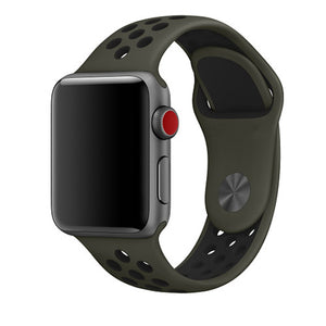Khaki Apple Watch Sport Band
