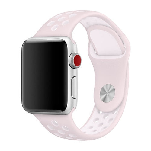 Pink & White Apple Watch Sport Band