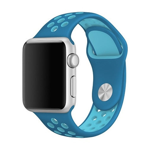 Light Blue Apple Watch Sport Band