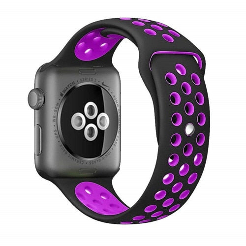 Black & Purple Apple Watch Sport Band
