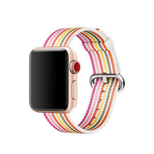 Pink Nylon Apple Watch Band