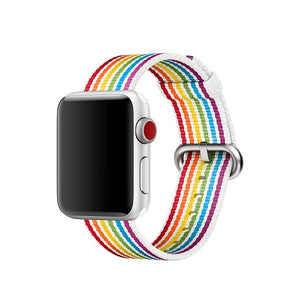 Rainbow Nylon Apple Watch Band