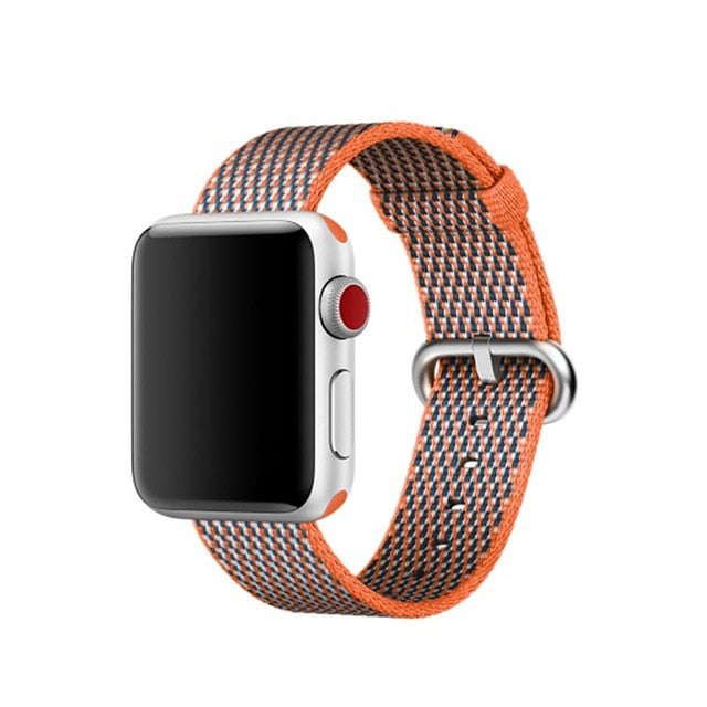 Orange Nylon Apple Watch Band