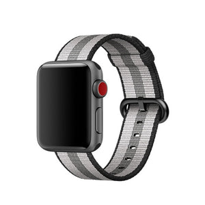 White Nylon Apple Watch Band