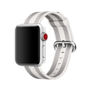 White Casual Nylon Apple Watch Band