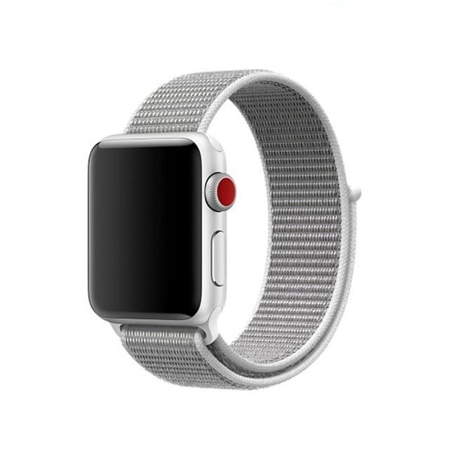 White Nylon Apple Watch Sport Band