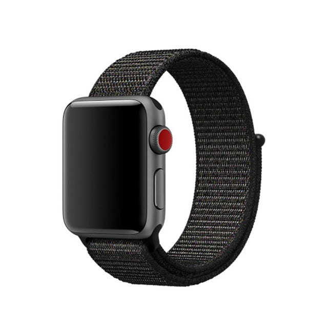 Black Nylon Apple Watch Sport Bands