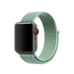 Light Blue Nylon Apple Watch Sport Band
