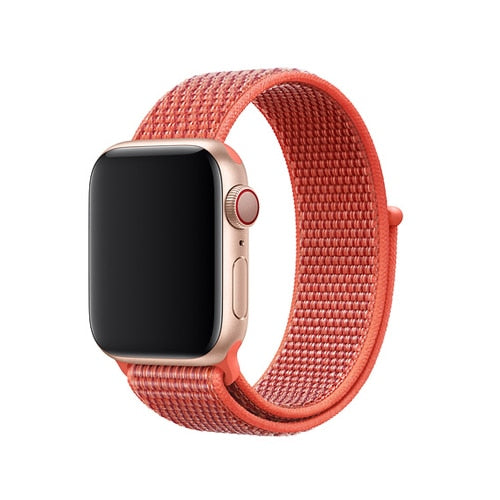 Orange Nylon Apple Watch Sport Band
