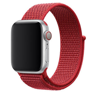 Red Nylon Apple Watch Sport Band