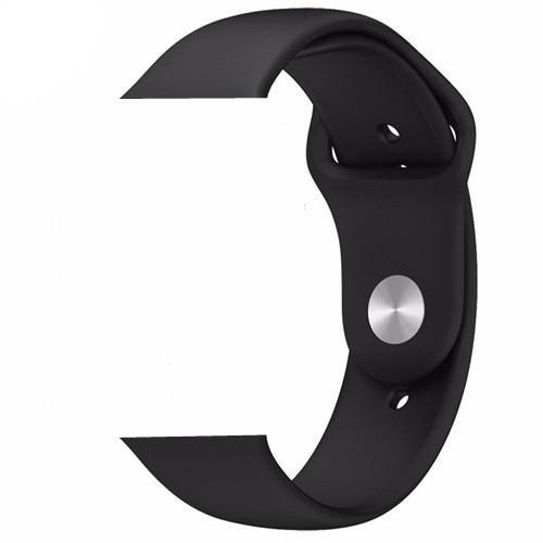 Black Silicone Apple Watch Band