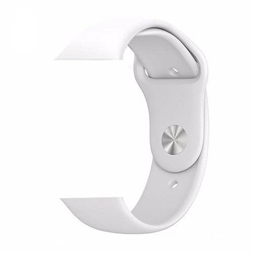 White Silicone Apple Watch Band