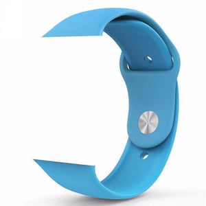 Light Blue Silicone Apple Watch Band