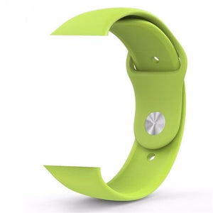 Green Silicone Apple Watch Band