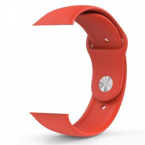 Orange Silicone Apple Watch Band
