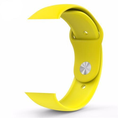 Yellow Silicone Apple Watch Band