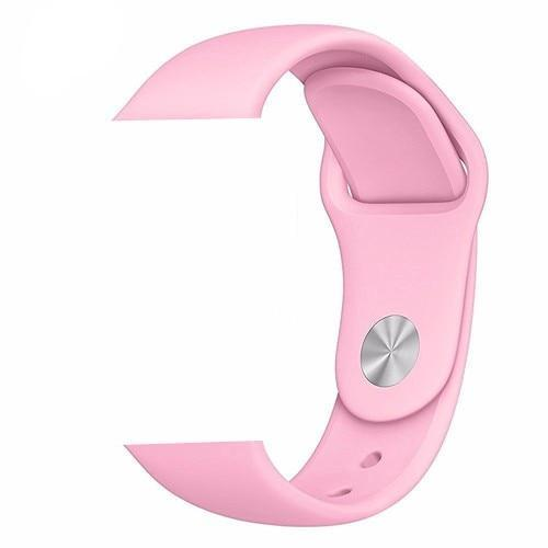 Pink Silicone Apple Watch Band