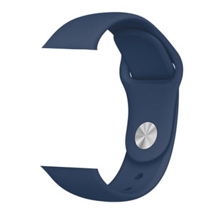 Blue Silicone Apple Watch Band