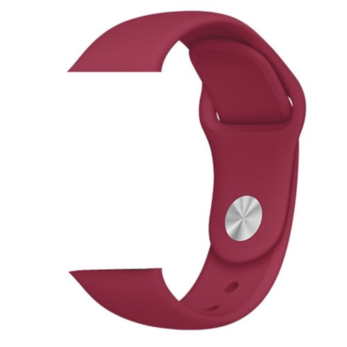 Red Silicone Apple Watch Band
