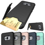 Shockproof  Phone Bag Case Card Slot Holder  Dual Layer for Samsung Galaxy S8 S8 Plus