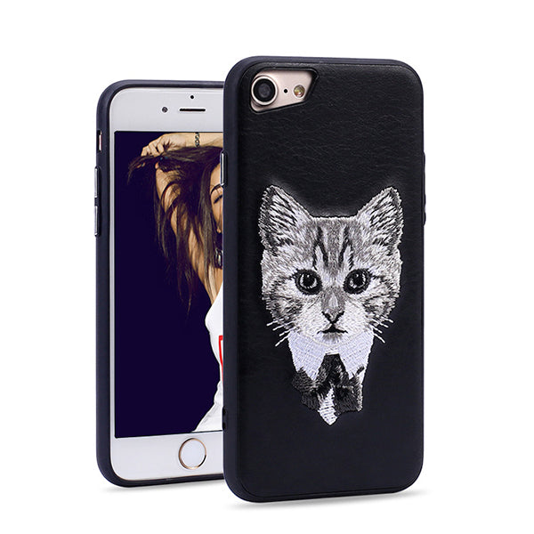 Animal Embroidery Phone Case For iPhone7/8/7Plus/8Plus