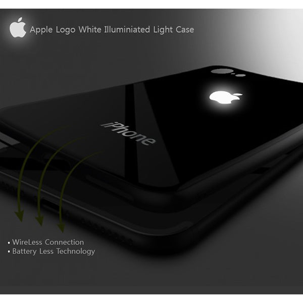 LED Light Illuminated Apple Logo 3D Designer Case Back Cover For iPhone6/6S 6/6SPlus 7/8 7/8Plus X/XS/XR/XS MAX
