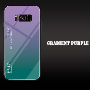 Gradient Tempered Glass Phone Case For Samsung S8/S8 Plus