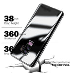360 Degree Full Body Case Soft HD Screen Protection Protector Film Ultralight Slim Hard Mirror Chrome Electroplate Cover for Samsung Galaxy Note8/Note9