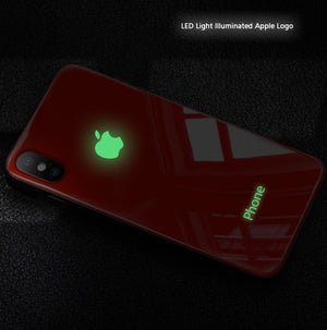 Colorful Led Illuminate Glass Cover Phone Case For iPhone X/XS/XR/XS MAX