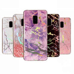 Luxury Laser Marble Soft Silicone Phone Case for Samsung S8/S8 Plus
