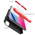 3 in 1 Ultra Thin 360 Degree Full Protection Luxury Phone Cases For iPhone X/XS/XR/XS MAX