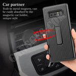Vertical Protective Folding Bracket Anti-Skid Design Phone Case For Samsung S9/S9Plus/S10/S10Plus