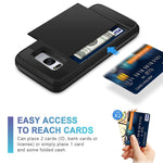 Slide Credit Card Slot Wallet Phone Case For Samsung Galaxy S8/S8 Plus