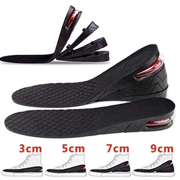 3cm 5cm 7cm 9cm Unisex Shoe Lift Height Increase Heel Insoles Insert Taller
