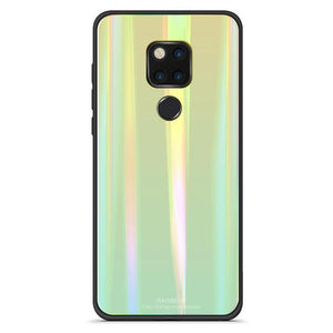 Aurora Colorful Glass Gradient Cover Case Slim Silicone Aurora Laser Coque for Huawei mate 20/20 Pro