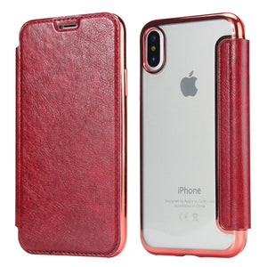 Luxury Slim Book Leather +TPU Wallet Flip Phone Protect Case Cover For iPhone X/XS/XR/XS MAX