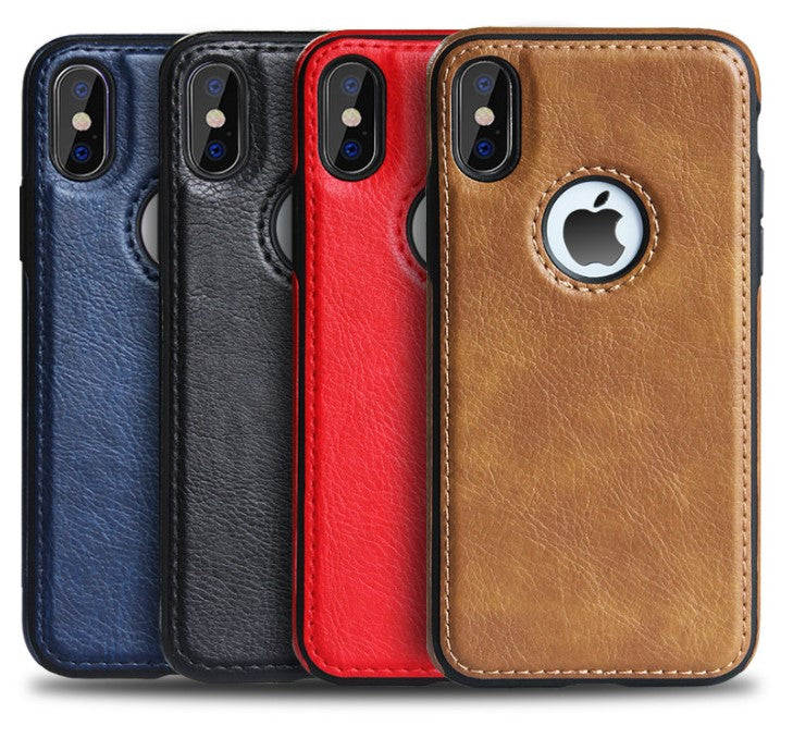 Luxury Vintage Calf Leather Back Ultra Thin Case Cover for iphone X/XS/XR/XS MAX