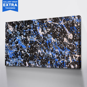 ABSTRACT POLLOCK BLUE