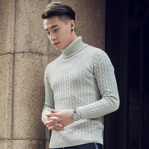 2d61de08e7 2018 Fall Winter Thick Warm Cashmere Sweater Men Turtleneck Men Brand Mens  Sweaters Slim Fit Pullover