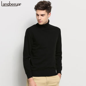 Hot 2018 New Autumn Winter Brand Clothing Sweater Men Turtleneck Slim Fit  Winter Pullover Men Solid 681a60804