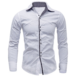 01e41702fe3 New Arrivals Men Shirt Brand British Style Long Sleeve Male Slim Fit Business  Casual Clothes Men s
