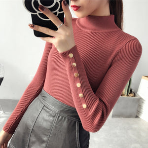 cbc5cc313b OHCLOTH Sweater female Half downneck female thickening 2018 new winter  sweater slim all-match elastic