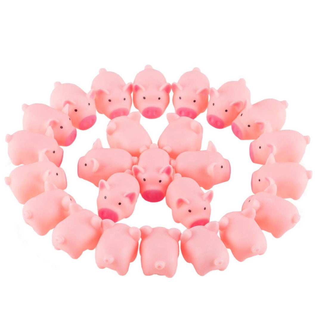 Squeaky Pink Pig Toy