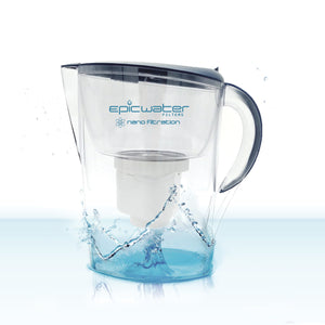 Epic Nano Water Filter Jug | Navy Blue | Removes Bacteria Cysts & Viruses